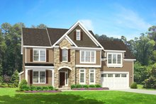Colonial Exterior - Front Elevation Plan #1010-83