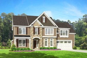 House Plan Design - Colonial Exterior - Front Elevation Plan #1010-83