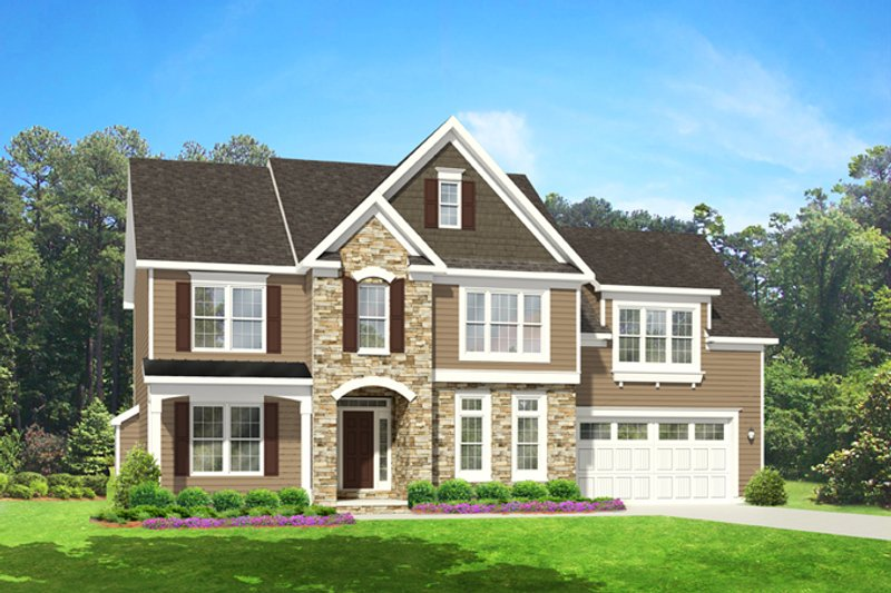 Dream House Plan - Colonial Exterior - Front Elevation Plan #1010-83