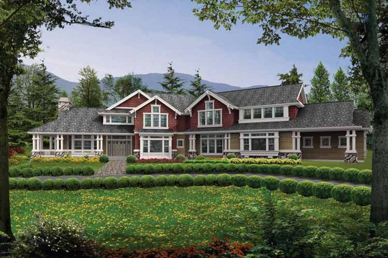 Architectural House Design - Craftsman Exterior - Front Elevation Plan #132-349