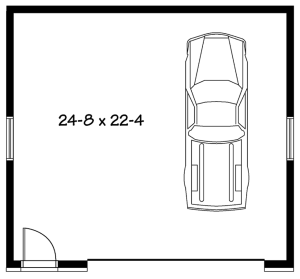 Contemporary Floor Plan - Main Floor Plan Plan #23-2564