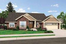 Craftsman Exterior - Front Elevation Plan #46-809