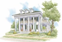 Southern Exterior - Front Elevation Plan #930-404