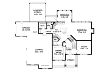 Craftsman Floor Plan - Main Floor Plan Plan #1010-93