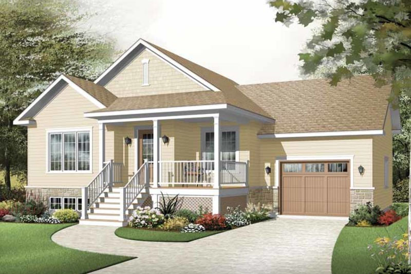 Country Exterior - Front Elevation Plan #23-2382 - Houseplans.com