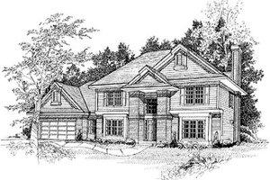 Modern Exterior - Front Elevation Plan #70-439
