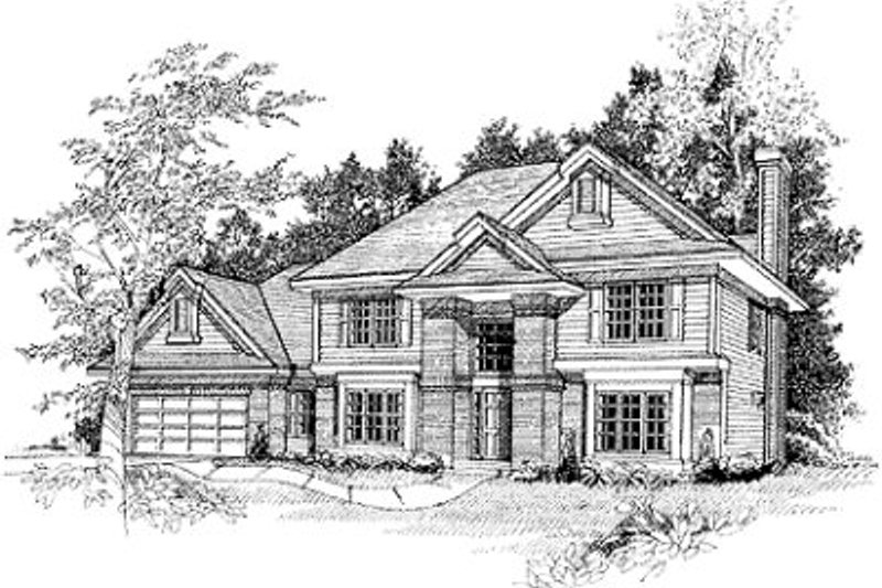 Modern Exterior - Front Elevation Plan #70-439 - Houseplans.com