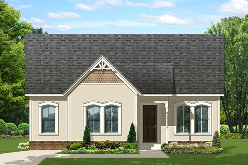 Ranch Exterior - Front Elevation Plan #1058-140