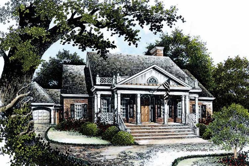 Country Exterior - Front Elevation Plan #429-363 - Houseplans.com