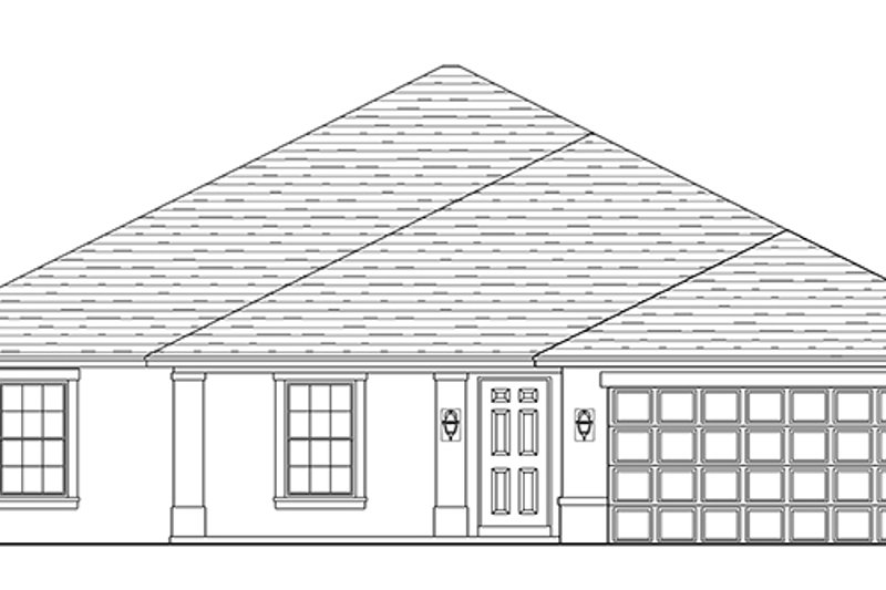 Traditional Exterior - Front Elevation Plan #1058-121 - Houseplans.com