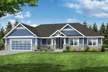House Plan Design - Craftsman Exterior - Front Elevation Plan #124-1220
