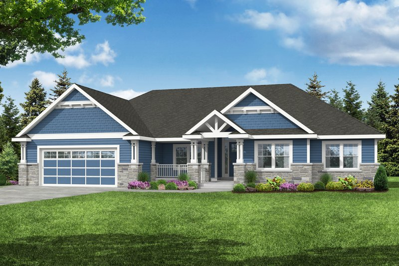 Dream House Plan - Craftsman Exterior - Front Elevation Plan #124-1220