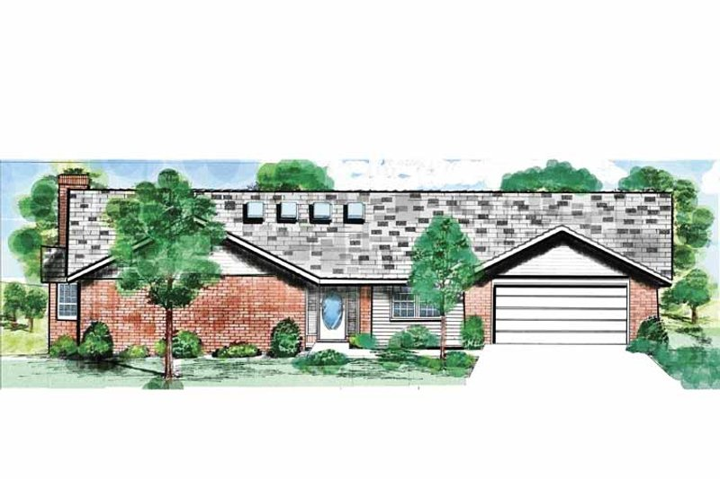Ranch Exterior - Front Elevation Plan #52-276 - Houseplans.com