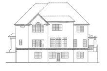 Dream House Plan - Traditional Exterior - Rear Elevation Plan #54-333