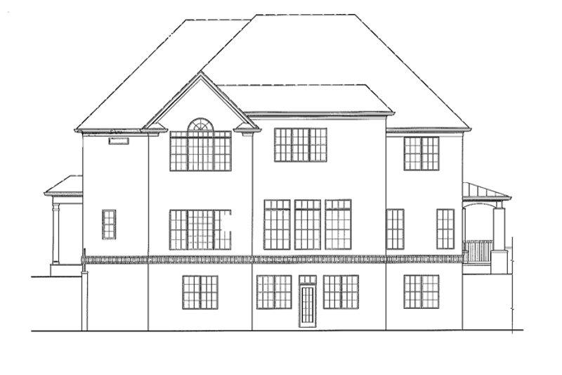 Traditional Exterior - Rear Elevation Plan #54-333 - Houseplans.com