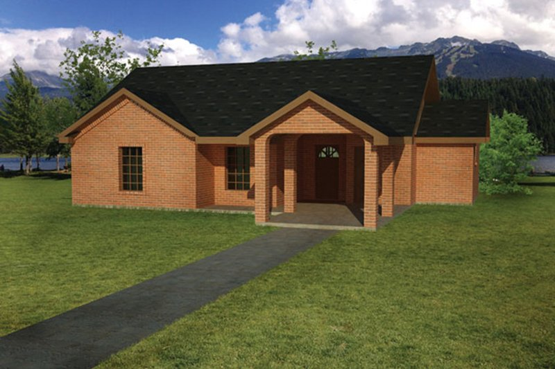 Ranch Exterior - Front Elevation Plan #1061-27