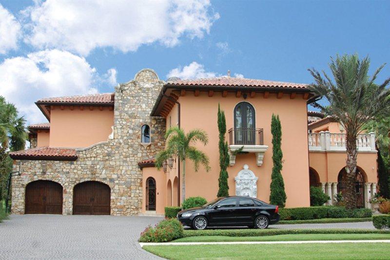 Dream House Plan - Mediterranean Exterior - Front Elevation Plan #1058-16
