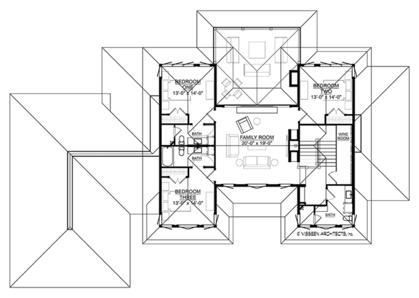 House Plan Design - Contemporary Floor Plan - Upper Floor Plan #928-291