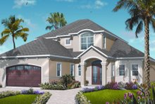 Mediterranean Exterior - Front Elevation Plan #23-2246