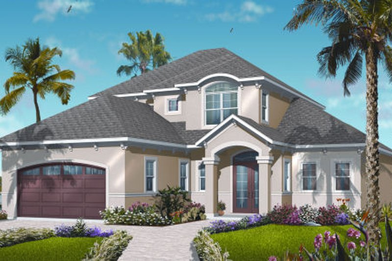 Architectural House Design - Mediterranean Exterior - Front Elevation Plan #23-2246