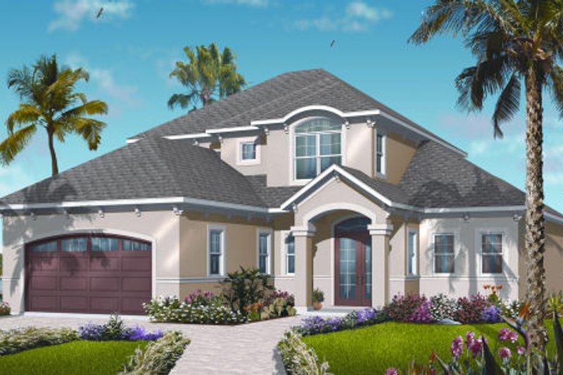 Dream House Plan - Mediterranean Exterior - Front Elevation Plan #23-2246