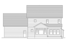 Colonial Exterior - Rear Elevation Plan #1010-56