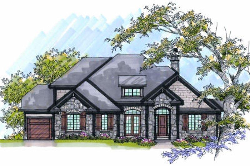 Dream House Plan - European Exterior - Front Elevation Plan #70-993