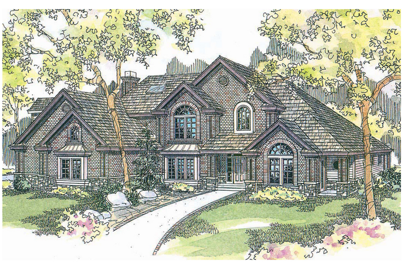 European Exterior - Front Elevation Plan #124-515