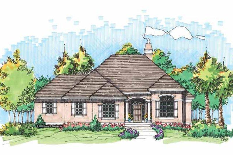 House Design - Mediterranean Exterior - Front Elevation Plan #929-591
