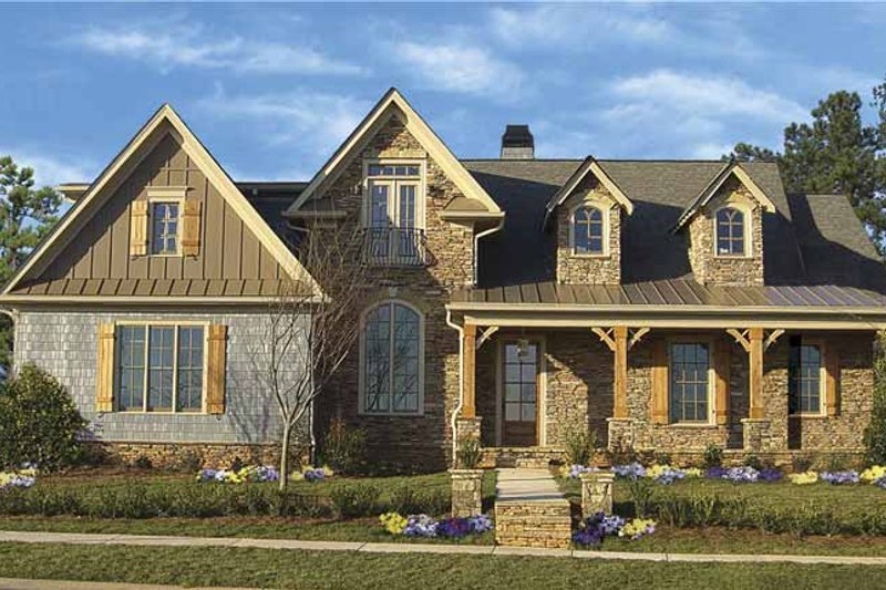 Home Plan - Traditional Exterior - Front Elevation Plan #54-292