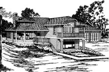 Dream House Plan - Contemporary Exterior - Front Elevation Plan #124-261