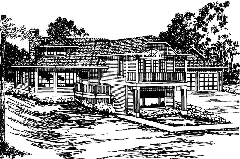 Contemporary Exterior - Front Elevation Plan #124-261