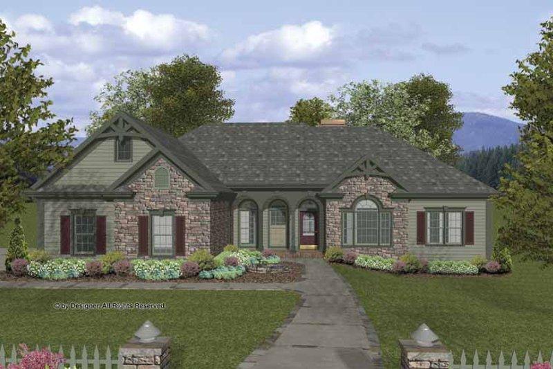 Craftsman Exterior - Front Elevation Plan #56-685 - Houseplans.com