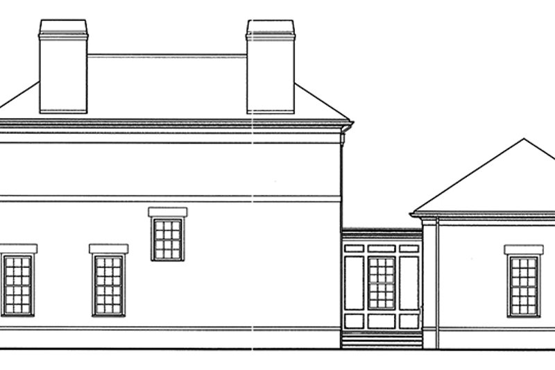 Classical Exterior - Other Elevation Plan #992-1 - Houseplans.com