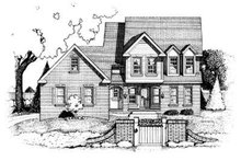 Traditional Exterior - Front Elevation Plan #20-948