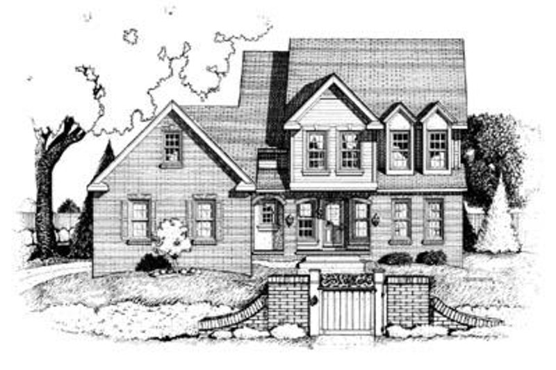 Traditional Exterior - Front Elevation Plan #20-948 - Houseplans.com