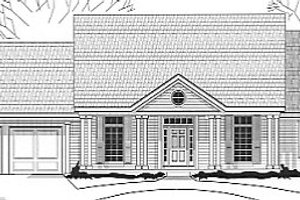 Southern Exterior - Front Elevation Plan #67-678