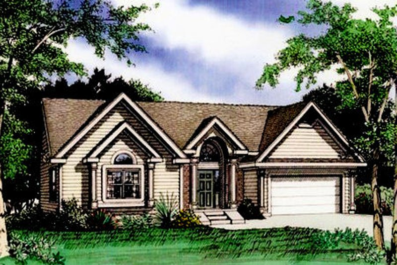 Traditional Exterior - Front Elevation Plan #405-183