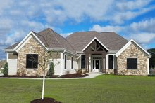 Dream House Plan - Craftsman Exterior - Front Elevation Plan #70-1481