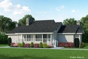 Farmhouse Style House Plan - 2 Beds 2 Baths 1299 Sq/Ft Plan #929-35 Exterior - Front Elevation
