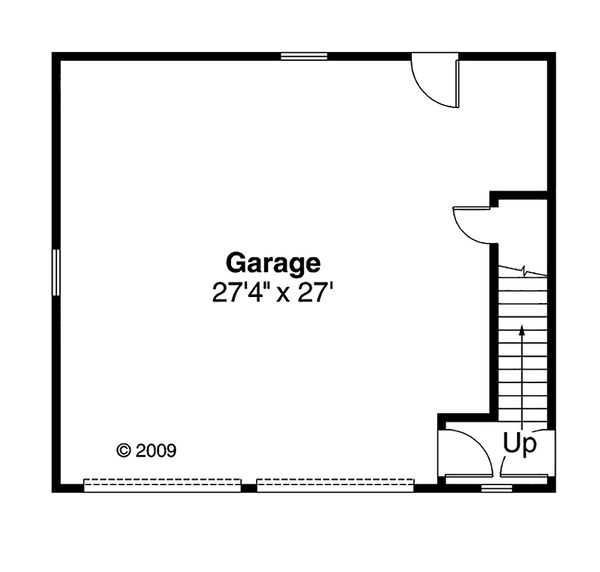 Craftsman Floor Plan - Main Floor Plan Plan #124-800