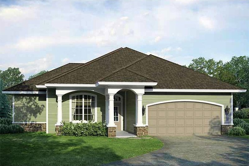 Country Style House Plan - 3 Beds 2 Baths 1555 Sq/Ft Plan #938-30