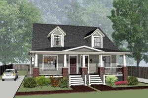 Craftsman Exterior - Front Elevation Plan #79-249