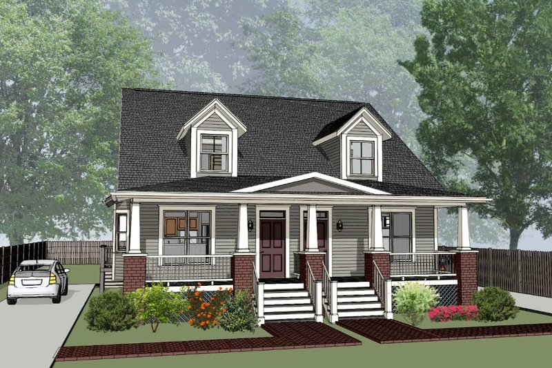 Craftsman Exterior - Front Elevation Plan #79-249