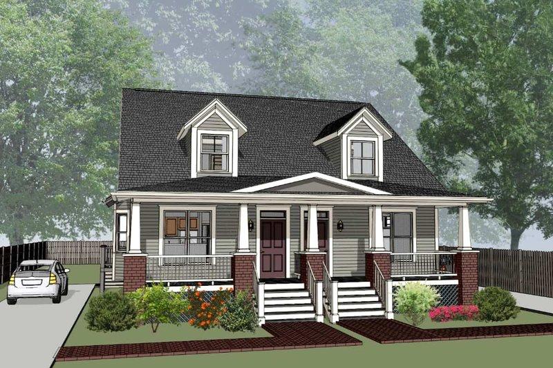 Dream House Plan - Craftsman Exterior - Front Elevation Plan #79-249