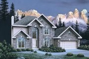 Traditional Style House Plan - 4 Beds 2.5 Baths 2614 Sq/Ft Plan #57-270 Exterior - Front Elevation