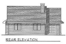 Traditional Exterior - Rear Elevation Plan #70-111