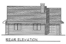 House Design - Traditional Exterior - Rear Elevation Plan #70-111