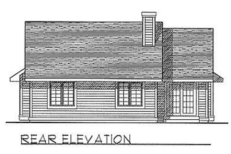 Traditional Exterior - Rear Elevation Plan #70-111 - Houseplans.com