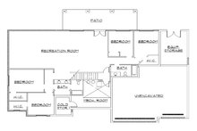 Traditional Floor Plan - Lower Floor Plan Plan #5-268